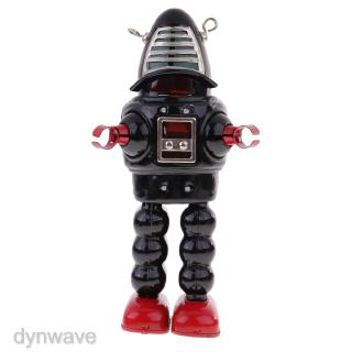 Novelty Wind Up Black Mechanical Sparking Planet Space Tin ROBOT Model Toys
