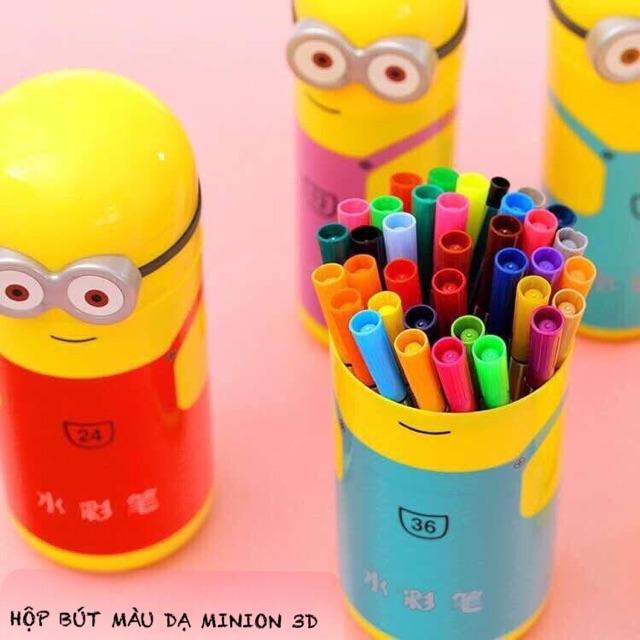 Hộp Bút Màu Dạ Minion 3D - 2581465 , 236918124 , 322_236918124 , 60000 , Hop-But-Mau-Da-Minion-3D-322_236918124 , shopee.vn , Hộp Bút Màu Dạ Minion 3D