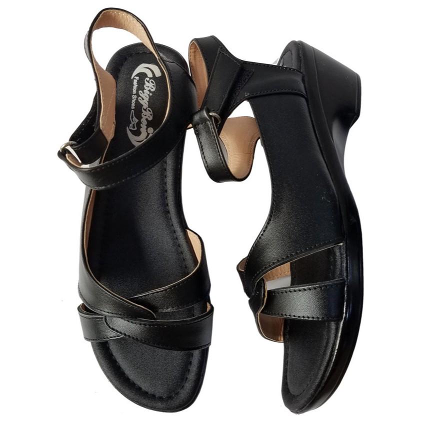 Giày Sandal Nữ Đế Xuồng Da Bò BIGGBEN HKD278