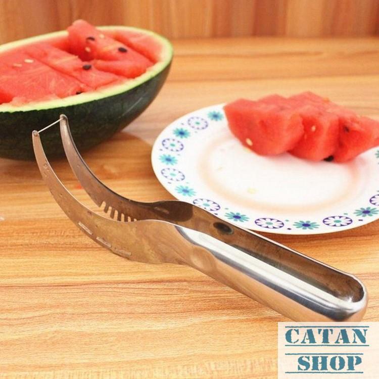 Combo 2 Dao cắt dưa hấu siêu nhanh, inox không gỉ, gọt dưa hấu, trang trí dĩa trái cây GD43-DCDH-2