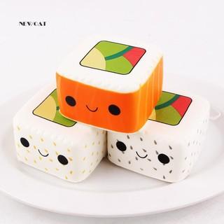 Đồ chơi Squishy hình sushi , dễ thương , bóp để giảm căng thẳng