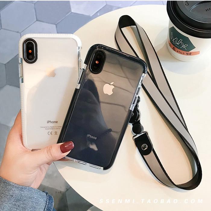 Ốp lưng trong suốt kèm dây treo cho Iphone 6s 8plus 7