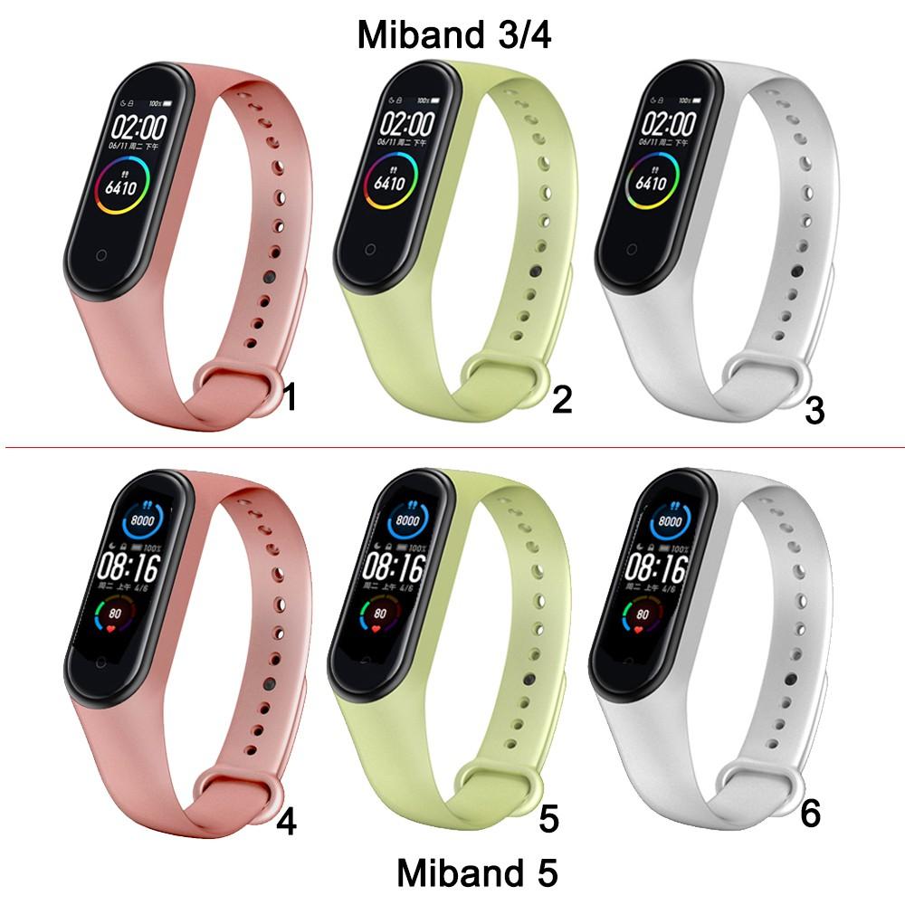 Dây đeo silicon dành cho đồng hồ thông minh Xiaomi Mi Band 3 Miband 3 4 5