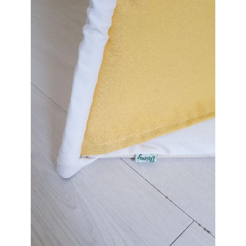 Lều vải cho bé màu vàng cotton 100% linen cao cấp cọc gỗ tự nhiên an toàn cho trẻ