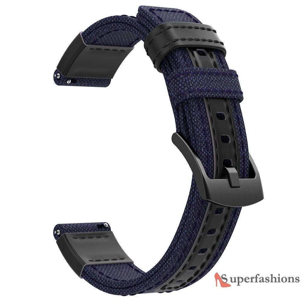 Dây Đeo Bằng Vải Canvas 22mm Cho Đồng Hồ Thông Minh Samsung Gear S3