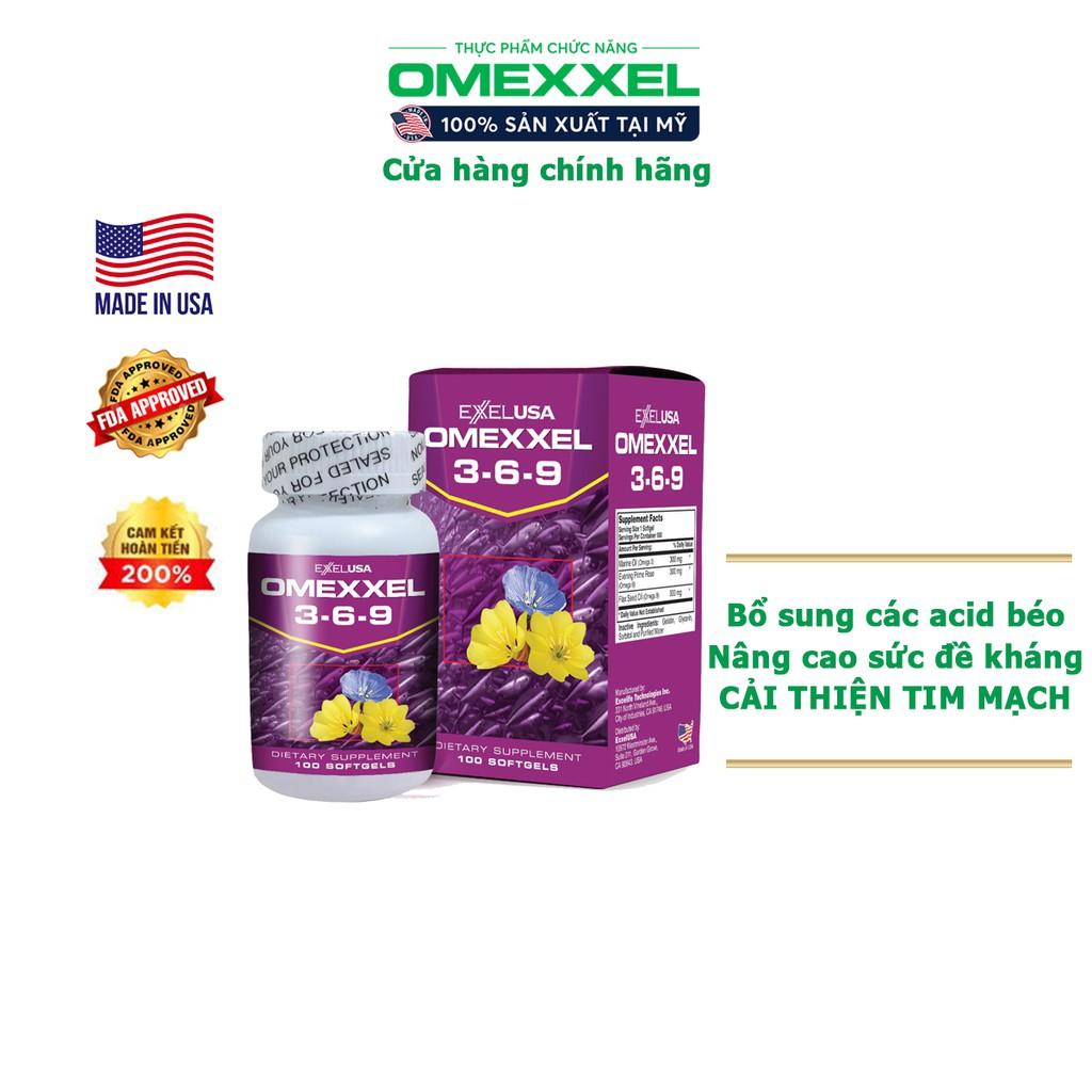 Viên uống hỗ trợ tim mạch Omexxel 3-6-9 (100 viên/lọ) - Xuất xứ Mỹ
