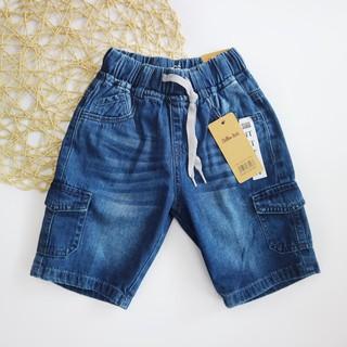 Quần Jeans Lửng Bé Trai 10-45kg Phối Túi Hộp Dây Rút SILBER KIDS