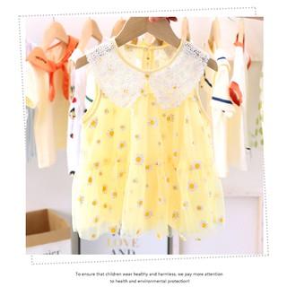 Váy Hoa Cúc Cổ Phối Ren Hàng QCCC cho bé dưới 1 tuổi