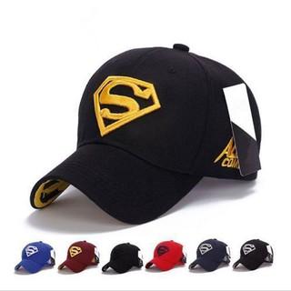 Mũ lưỡi trai ,Nón nam màu đen Logo chữ Superman vàng thời trang, kiểu dáng cá tính, phong cách Châu Âu