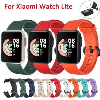 mi watch lite Dây Đeo Thay Thế Chất Liệu Silicon Màu Trơn Cho Xiaomi Mi Watch Lite Smart Watch