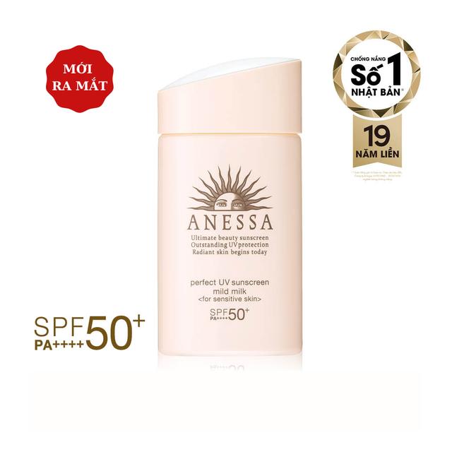 Sữa chống nắng dưỡng da dịu nhẹ cho da nhạy cảm & trẻ em Anessa Perfect UV Sunscreen Mild Milk 60ml