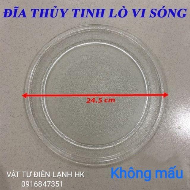 Đĩa thủy tinh đựng đồ ăn lò vi sóng các cỡ 24.5 - 25.5 - 27 - 28.5 - 31.5 cm lvs