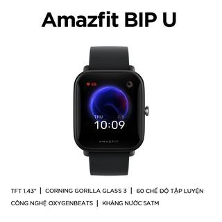 Hình ảnh Đồng Hồ Thông Minh Amazfit BIP U - Theo Dõi Nhịp Tim 24/7 - Đo Nồng Độ O2 Trong Máu - Chống Nước Sâu 50m - BH 12 Tháng-1