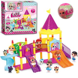 ZX Children Baby Toy Set Surprise Doll Park House Game Slide Playset Girls Kids Gift @VN