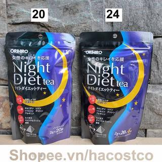 Trà đêm Orihiro Nhật Night Diet dạng túi lọc 24 và 20 gói