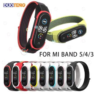Duo Teng Mi Band 5 Nylon Strap for Xiaomi Mi Band 4 Wristbands Replacement Sports Loop Miband 3 Watchband Accessories Breathable Bracelet