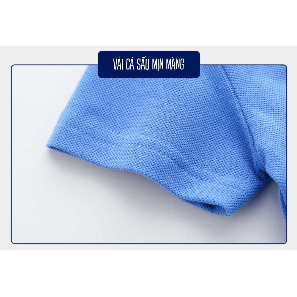 Áo POLO bé trai WELLKIDS áo thun in hình TIGER chất 100% cotton mềm mịn êm ái hàng xuất Âu Mỹ