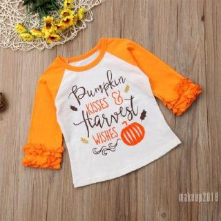 Mu♫-New Fashion Cute Infant Baby Boy Girl Long Sleeve Autumn Halloween T-shirt Tops Outfits Clothes For Best