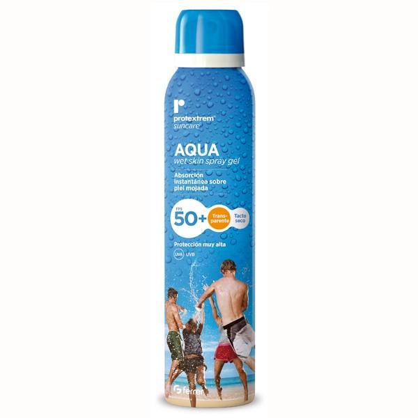 Chai xịt chống nắng dạng nước SPF50+ - Protextrem Suncare Aqua Wet Skin Spray Gel Spf50+ 150ml
