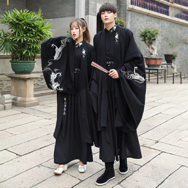 Hán phục đôi Set 6 - Tàng Long Hắc Y (Hán phục nam + nữ)
