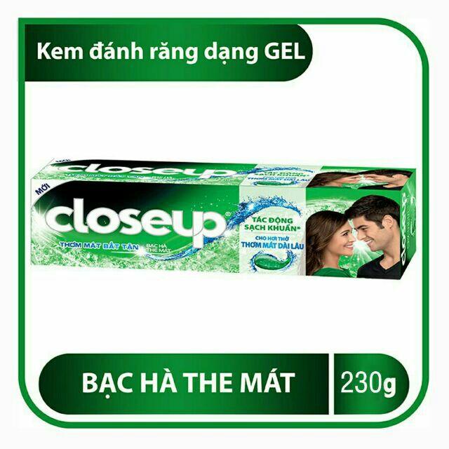 CLOSEUP 230g BẠC HÀ kem đánh răng