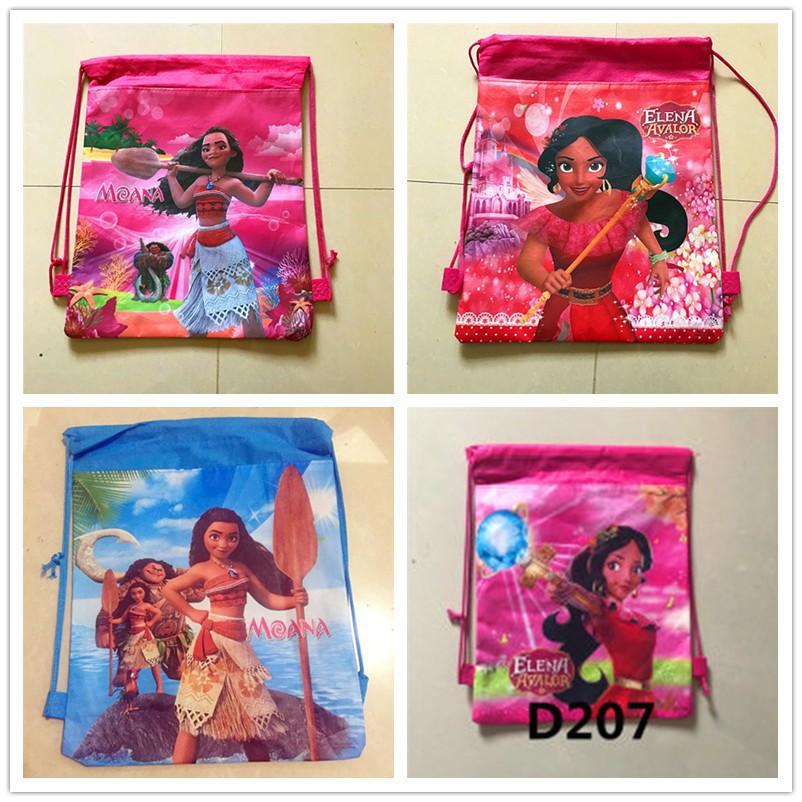 12Pcs/set Moana Bags Drawstring Kids Cartoon Bags Backpack  (Random Patterns)