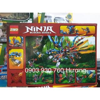 LEGO ZIMO lắp ráp ROBOT NINJA RỒNG 2 ĐẦU 430 Mảnh