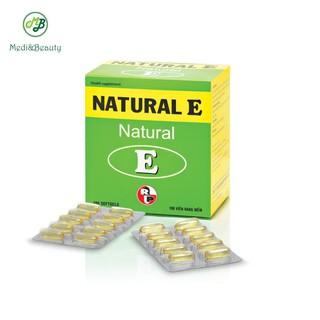 Viên uống vitamin e thiên nhiên, Chống oxi hóa, hạn chế lão hóa, đẹp da - NATURAL E - Medibeauty Hộp 100 viên thumbnail
