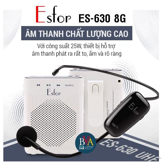 Tặng 1 bộ Aporo T9 UHF Bluetooth chính hãng khi Mua Máy trợ giảng Không dây ESFOR ES-630 8G Hàn Quốc