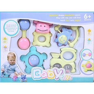 [Nhập GTNOV1819169 hoàn 30.000xu ] Set đồ chơi 5 món cho trẻ sơ sinh