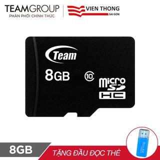 Thẻ nhớ micro SDHC Team Group 8GB tặng đầu đọc thẻ micro - Hãng phân phối chính thức