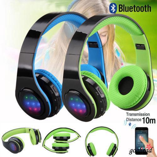 Tai nghe Bluetooth không dây gấp gọn có đèn LED