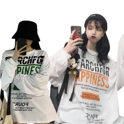 Áo thun nữ dài tay phong cách ulzzang Hàn Quốc thời trang cho nữ
