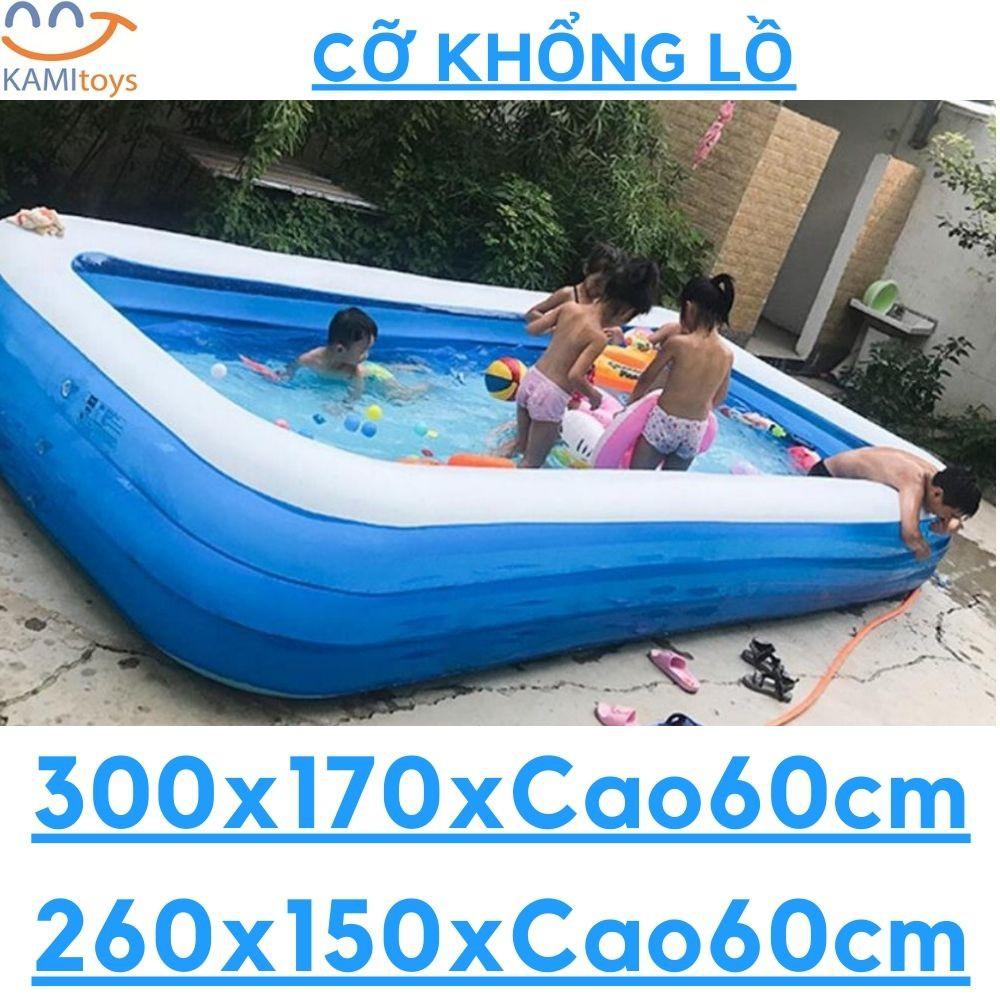 Bể bơi phao cỡ lớn khổng lồ cỡ 3m và 2.6m loại hồ bơi bơm hơi cho trẻ em và cả gia đình