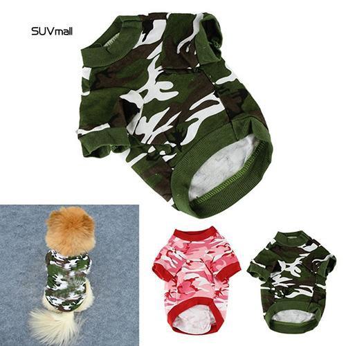 SUV_Pet Spring Autumn Cute Cool Camouflage Cotton Vest Cat Dog Puppy Apparel Clothes