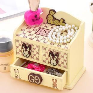 hộp trang sức 3 ngăn thỏ xinh