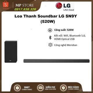 Loa Thanh Soundbar LG SN9Y 5.1.2 Ch, công suất 520W – Meridian
