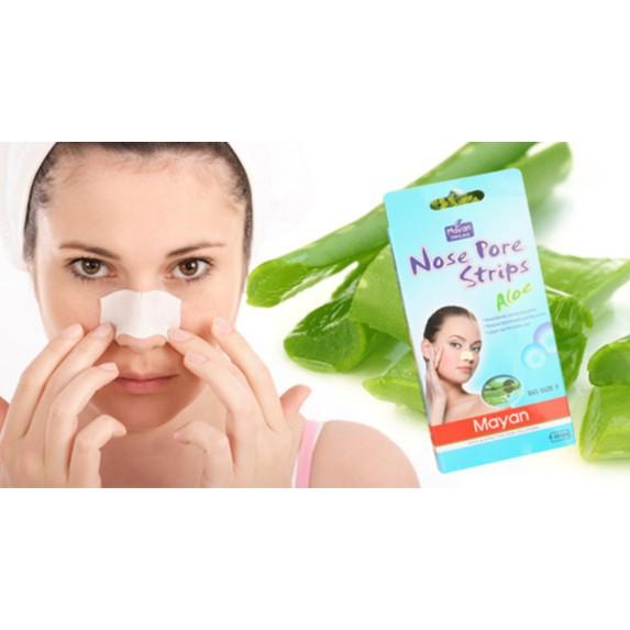 Miếng dán lột mụn mũi lô hội Mayan Skincare Nose Pore Strips Aloe Hàn Quốc  hộp 4 miếng - 0513902 | Shopee Việt Nam