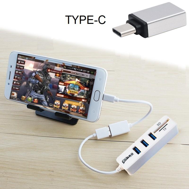 Hub Combo Chia 3 Cổng USB Kèm Đọc Thẻ Nhớ + Đầu TYPE-C Hỗ Trợ Chơi Game Trên Điện Thoại Kết Nối Với - 3519922 , 1246010368 , 322_1246010368 , 199000 , Hub-Combo-Chia-3-Cong-USB-Kem-Doc-The-Nho-Dau-TYPE-C-Ho-Tro-Choi-Game-Tren-Dien-Thoai-Ket-Noi-Voi-322_1246010368 , shopee.vn , Hub Combo Chia 3 Cổng USB Kèm Đọc Thẻ Nhớ + Đầu TYPE-C Hỗ Trợ Chơi Game Tr