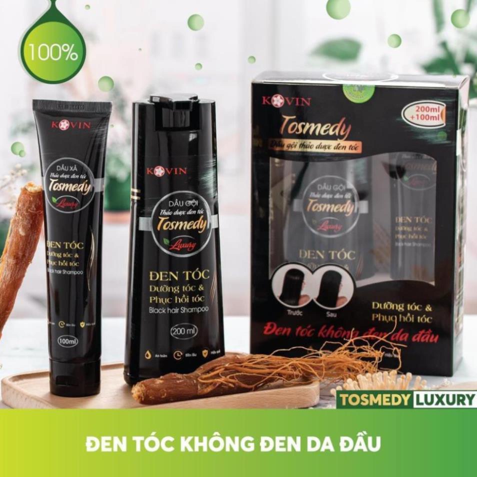 Dầu gội đen tóc TOSMEDY Công ty CP Dược TW Mediplantex dầu gội thảo dược đen tóc chỉ sau 01 lần sử dụng