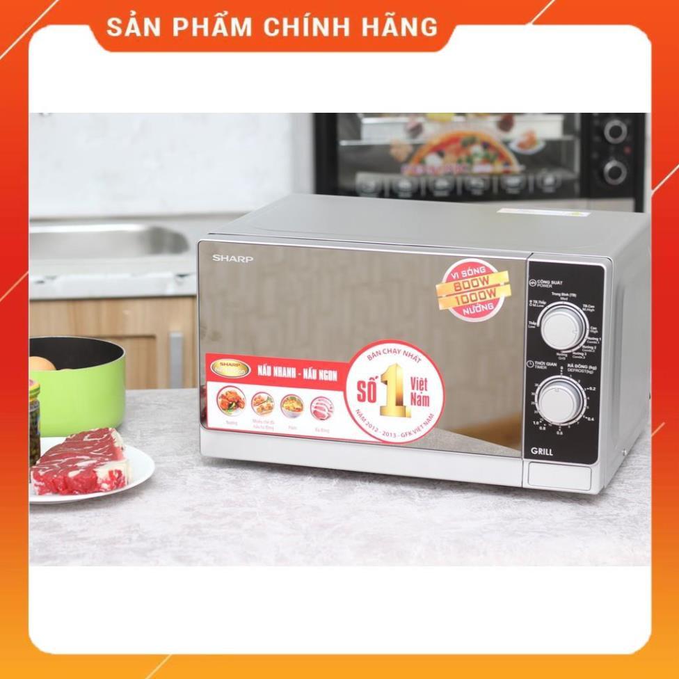 SIÊU hỏa tốc [Hỏa tốc 1 giờ] [FreeShip] Lò vi sóng Sharp R-G223VN-SM 20 lít  - Bảo hành 12 tháng tại Hà Nội