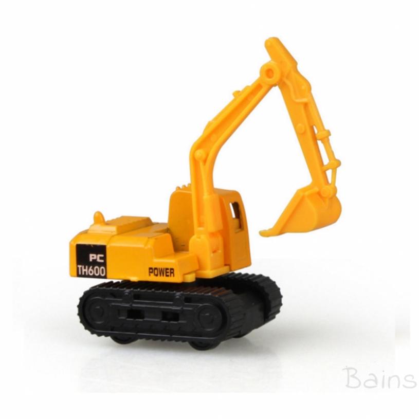 Bains Children's toy excavator alloy sliding car model mini set engineering vehicle