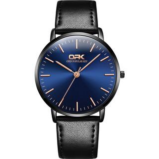 OLEVS Quartz Watch Men s Fashion Leather Strap thumbnail