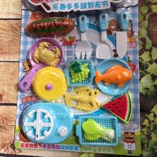 Vỉ đồ chơi nấu bếp xanh