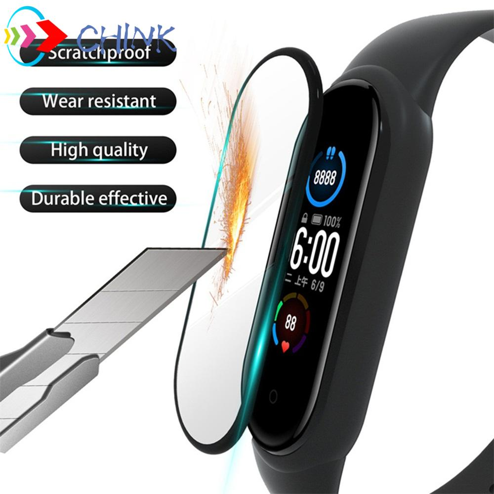 CHINK 3D Curved Smartwatch Protective Film Wristband Bracelet Full Cover Screen Protector for Xiaomi Mi Band 5