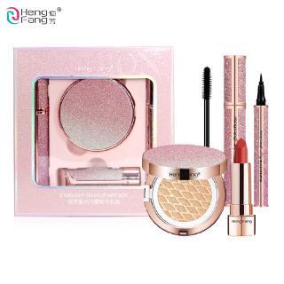 HengFang Starlight Cushion BB Eyeliner Lipstick Mascara  Sparkle Makeup Gift 1Set H9387