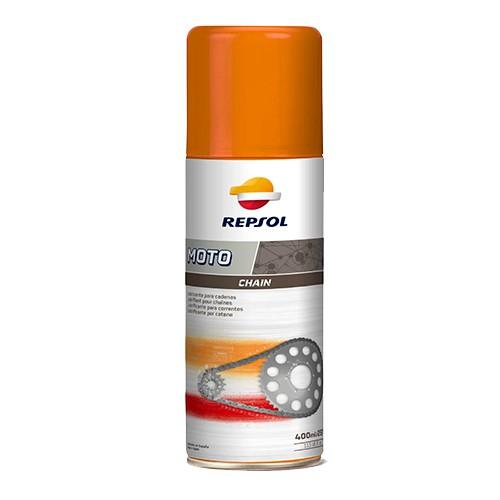 Combo chai xịt bảo dưỡng sên xích Repsol Chain Lube 400ml tặng bàn chải vệ sinh sên 3D