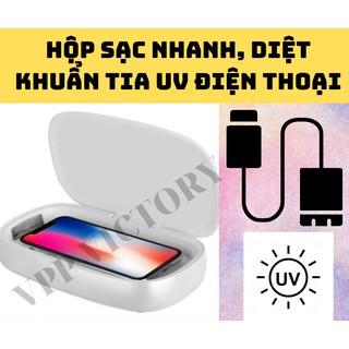 Hộp sạc khử trùng tia UV điện thoại Momax Q.Power UV-Box UV Sanitizing Box kèm sạc nhanh không dây thumbnail