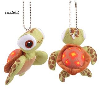 SDWC Cartoon Tortoise Soft Stuffed Animal Doll Plush Keychains Pendant Bag Decoration