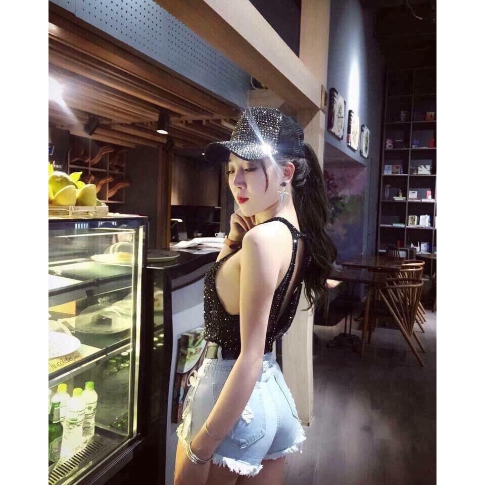 Mũ thời trang siêu cấp đính đá Valentino vip Mũ/Nón